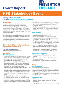 HPE Stakeholder Event Report 218x300